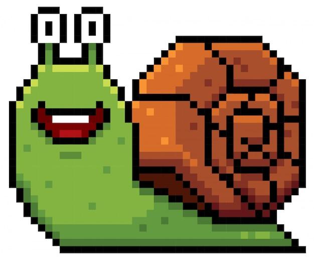 Snail cartoon pixel design