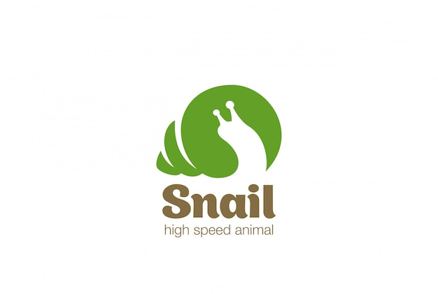 Snail logo logo vector icon.