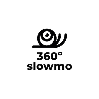 달팽이 마스코트 360 슬로우 모션 카메라 로고
