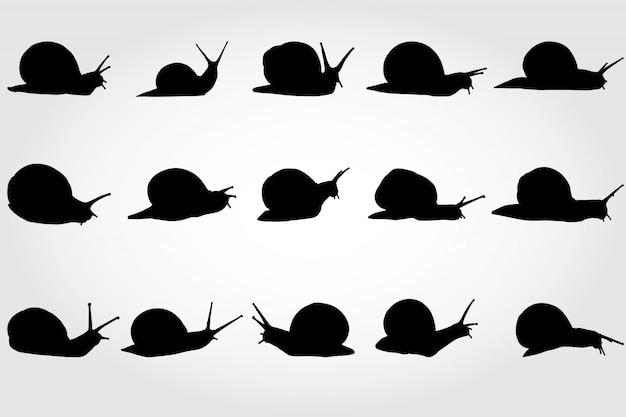 カタツムリのシルエット