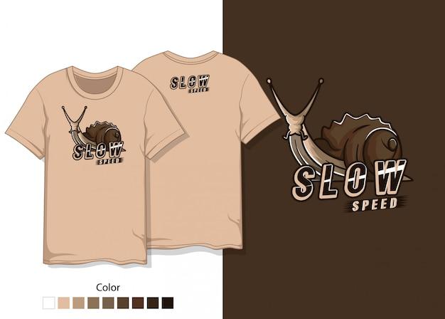 달팽이 티셔츠 디자인