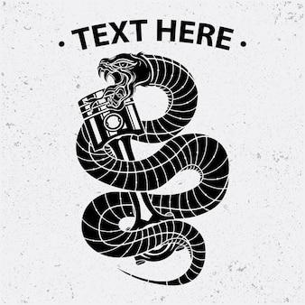 ヘビとピストンシャツのデザイン