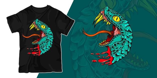 Дизайн футболки иллюстрации иллюстрации змеи