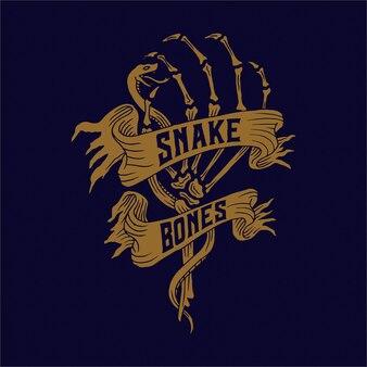 Snake and bones