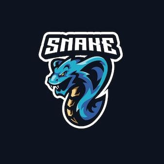 Змея кобра змея талисман игровой киберспорт дизайн логотипа