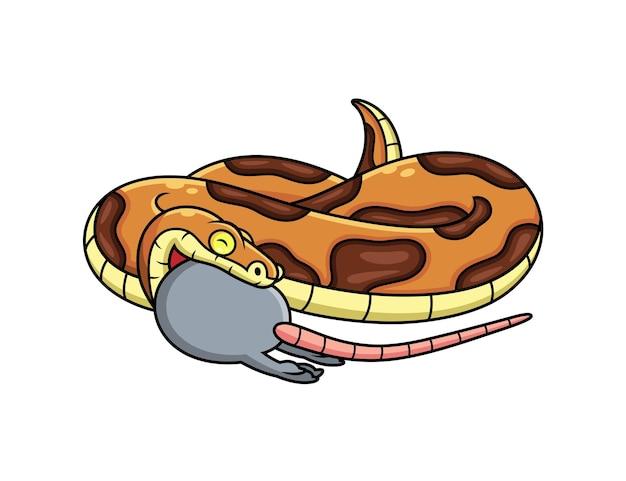 뱀 먹는 마우스 만화