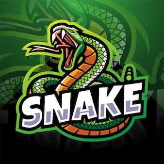Змея киберспорт дизайн логотипа талисмана