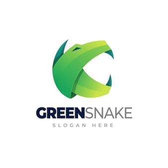 Snake gradient logo template