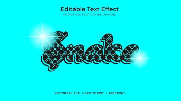 Snake illustrator editable text effect template design