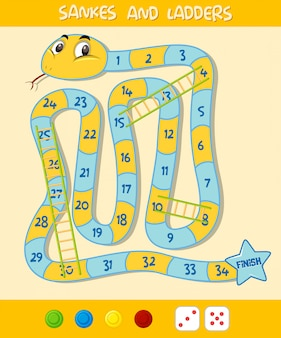 A snake ladder game template