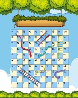 A snake ladder game