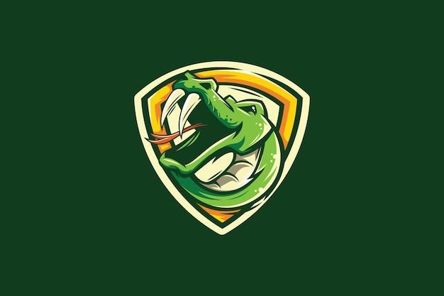 ヘビのマスコットeスポーツチームのロゴ