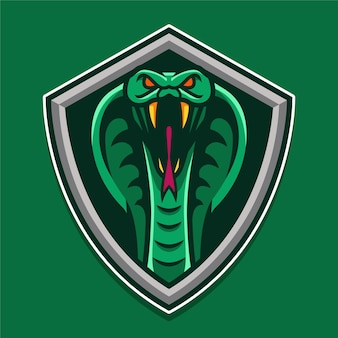 Snake shield logo