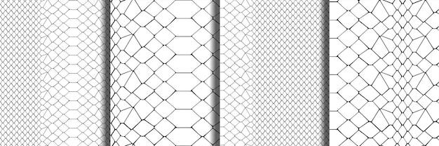 スネークスキン黒と白のシームレスパターンセット