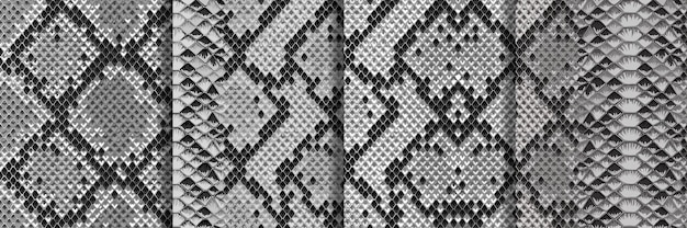 뱀 피부 원활한 패턴 설정 반복 동물 배경