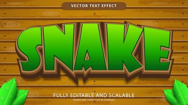Snake text effect editable eps file
