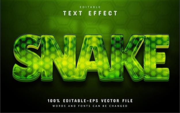 Текстовый эффект змеи
