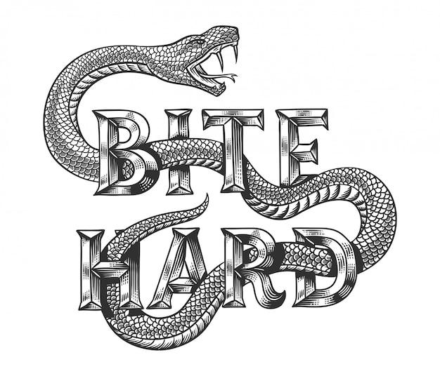 Змея векторная иллюстрация