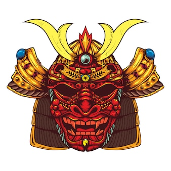 蛇皮マスク日本の武士の頭のデザイン