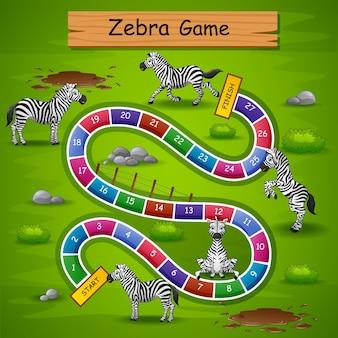 Snakes ladders game zebra theme