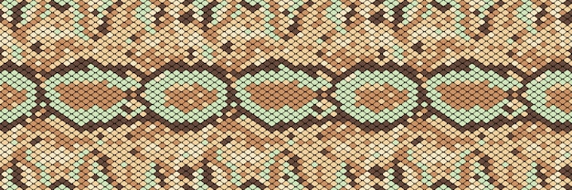 Snakeskin seamless pattern. realistic texture of snake or another reptile skin.