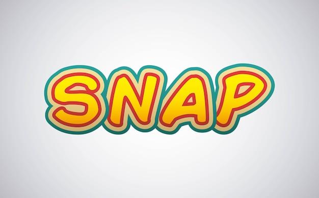Snap comic pop art style
