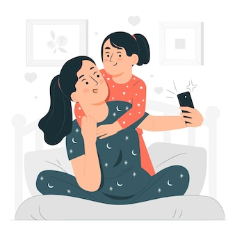 Snap the momentconcept illustration