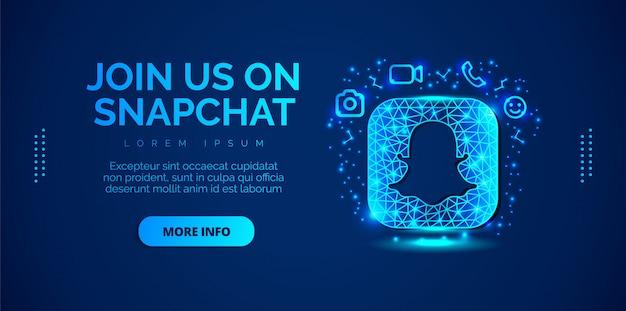 Snapchatソーシャルメディアデザイン