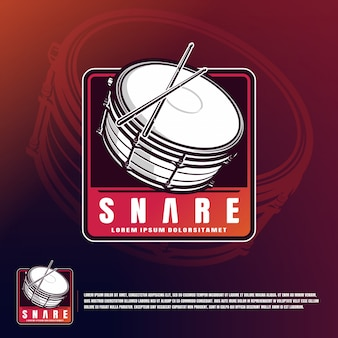 Snare badge template