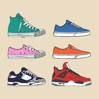 Sneaker shoes stock