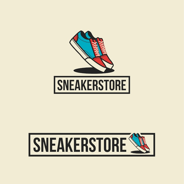 Sneaker store logo shoes