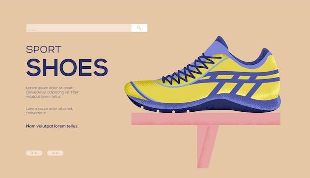 Sneakers concept flyer, web banner, ui header, enter site. .