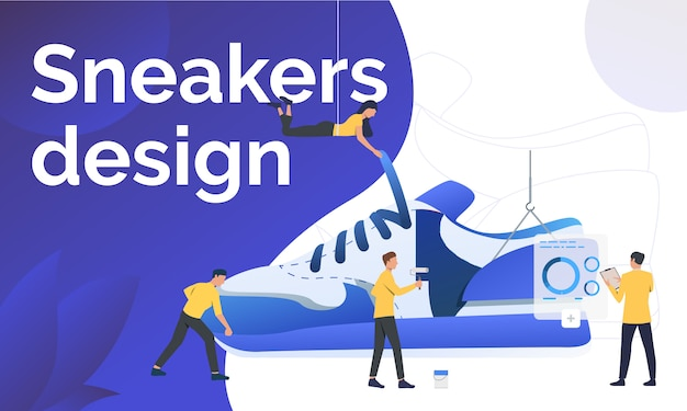 Sneakers design poster template