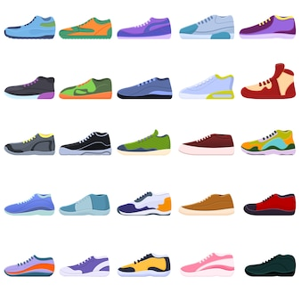 Sneakers icons set.  sneakers  icons