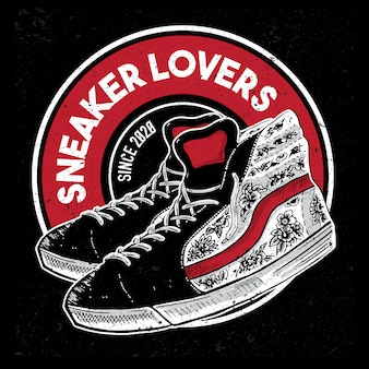 スニーカー愛好家のロゴ
