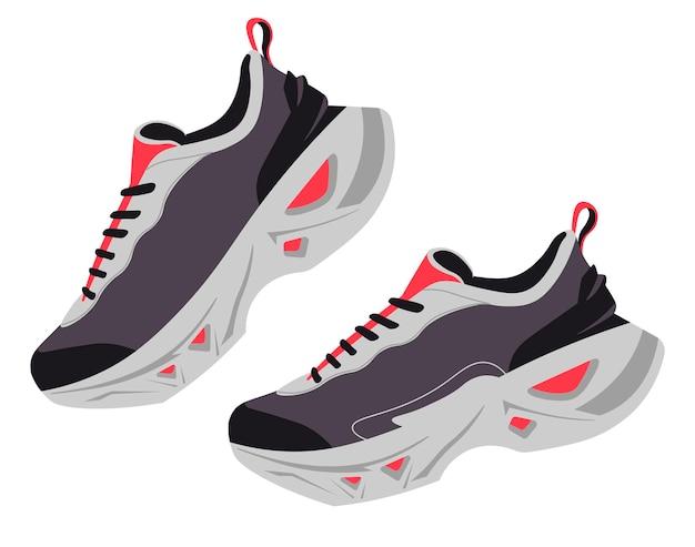 Кроссовки на шнурках простая пара обуви