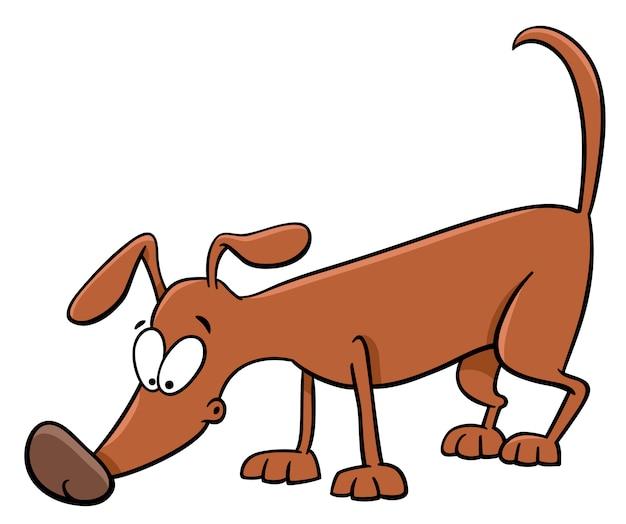 Sniffing dog cartoon