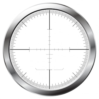 Sniper aim illustration in flat design