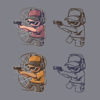 Sniper gaming artwork retro