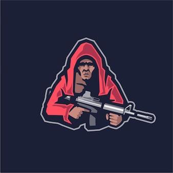Sniper mascot logo