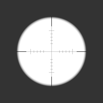 Sniper rifle scope. weapon aim. template of optical glass.