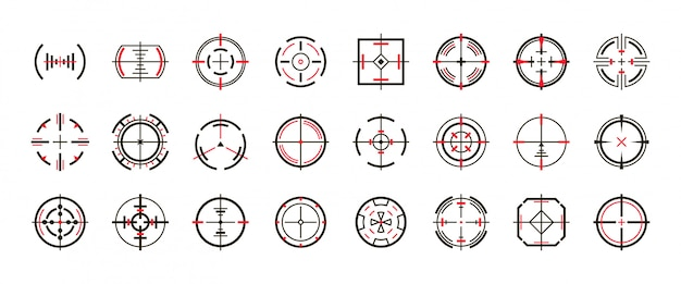Sniper sight vector black set icon. vector illustration sight and target. isolated black icon eye target