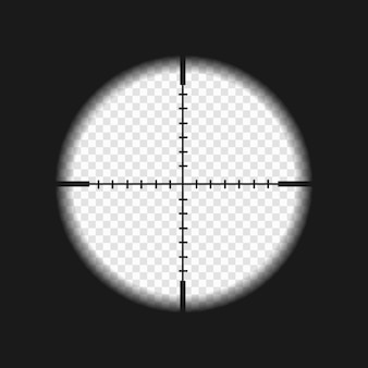 Sniper sight with measurement marks.