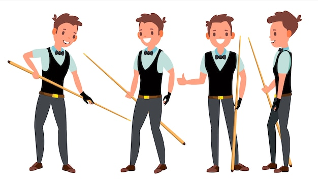 Snooker male player character set