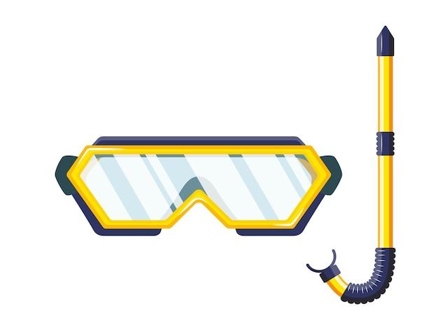 ダイビングや水泳用のシュノーケルマスク。