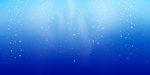Snow background, christmas snowstorm landscape, winter snowfall