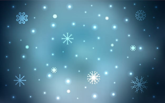 Snow on blurred abstract background with gradient