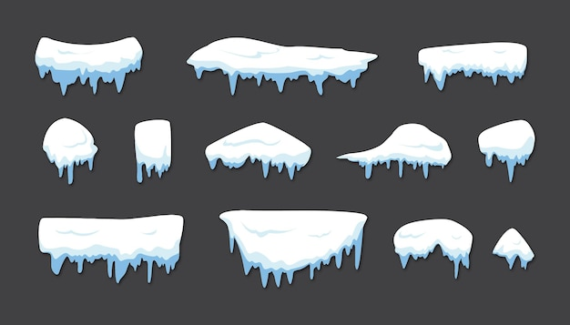Snow cap in the winter
