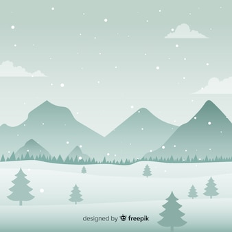 Snow-covered mountain background