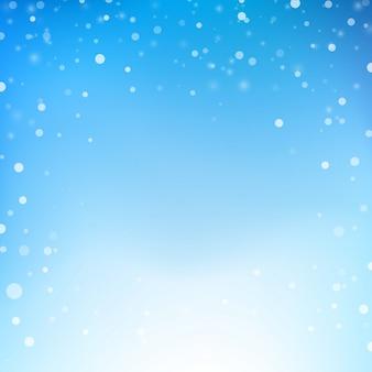 Снег падает с фоном светового эффекта